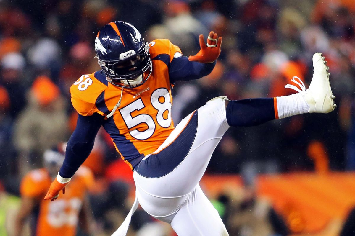 Von Miller has a lot to be kicking himself about as he's suspended for the first six games of the 2013 season.