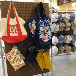 Accessories in the women's department include wallets, bags, hats and jewelry from $4.99 to $19.99.