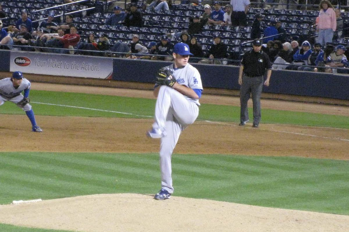 Withrow is hoping to permanently trade in the Lookouts uniform for a Dodgers uniform in 2012