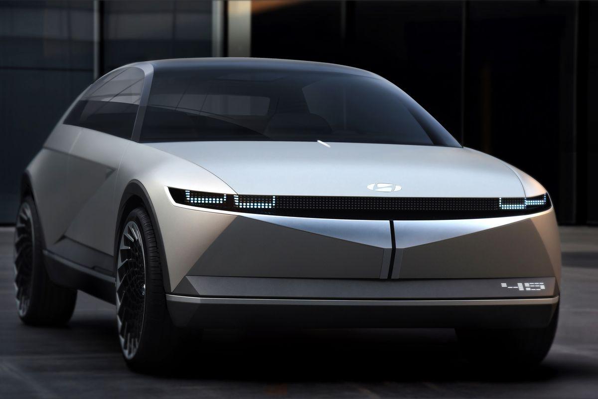 Hyundai S 45 Electric Concept Car Is A Futuristic Blast