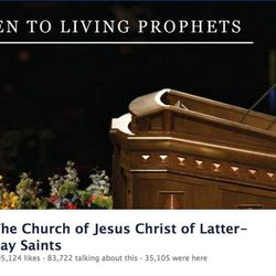 Profile picture of the LDS Church's official Facebook page
