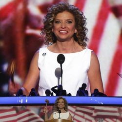 Democratic National Committee Chairwoman Rep. Debbie Wasserman Schultz, from Florida, gavels the start of the Democratic National Convention in Charlotte, N.C., on Tuesday, Sept. 4, 2012.
