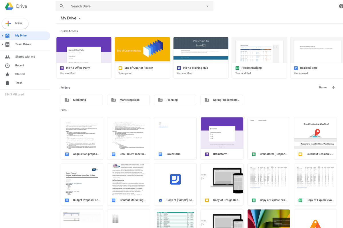 Google Drive's redesign matches the new Gmail - The Verge