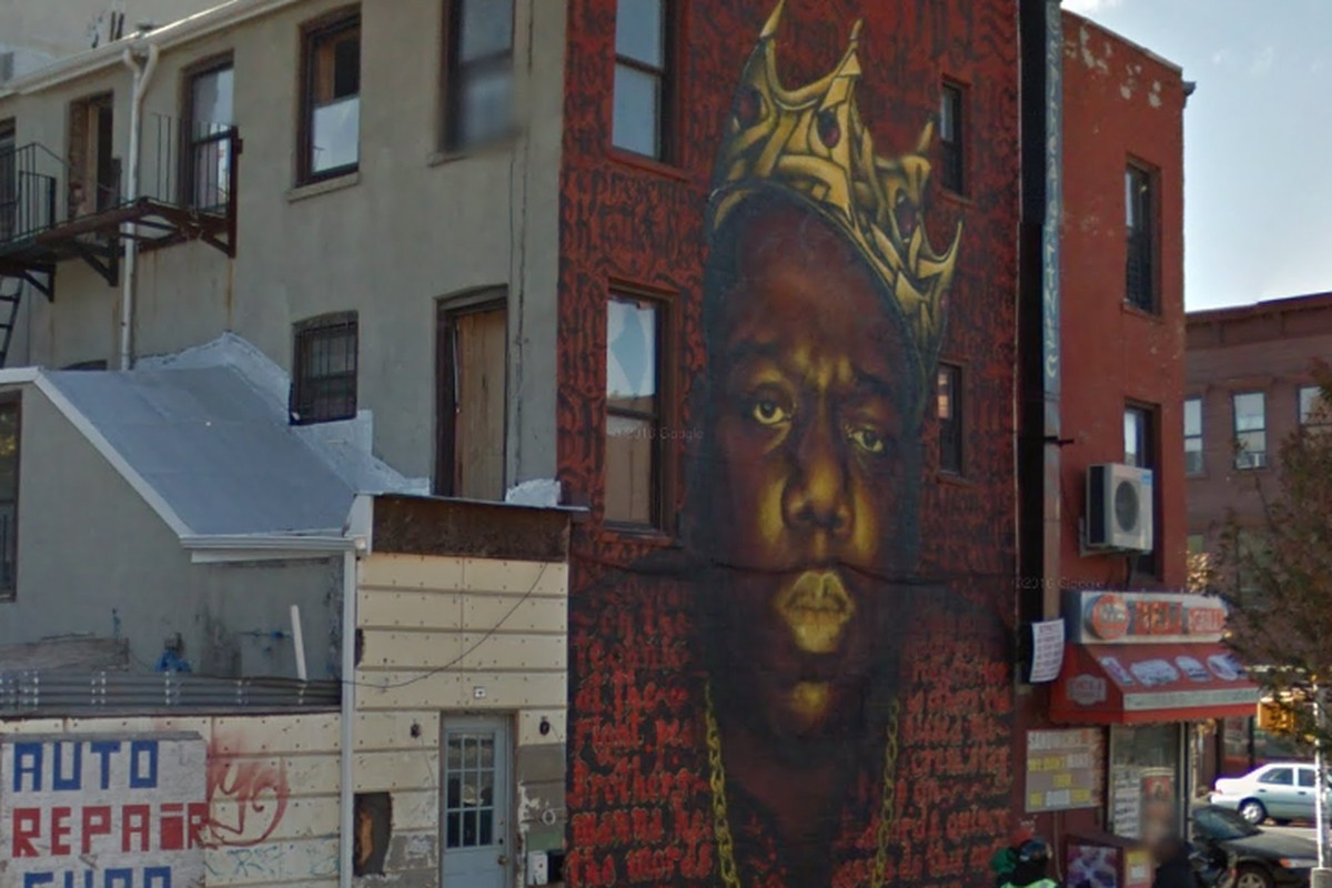 The Notorious B I G Mural In Bed Stuy Won T Come Down