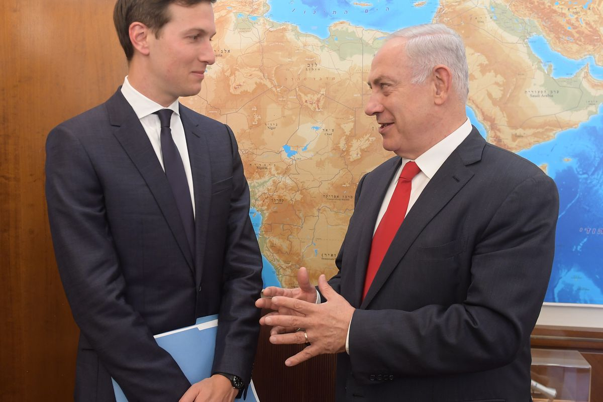 Israeli Prime Minister Benjamin Netanyahu meets with Jared Kushner