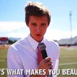 """Alex Boye and other young men remake One Direction's """"That's What Makes You Beautiful"""" hit song for an LDS standards night."""