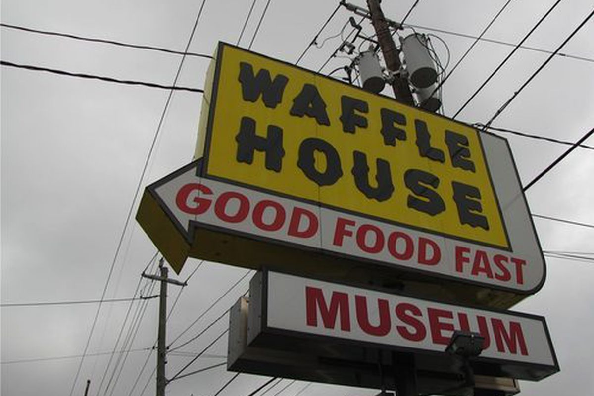 """<a href=""""http://atlanta.eater.com/archives/2013/07/18/a-look-at-the-firstever-waffle-house-now-the-worlds-only-waffle-house-museum.php"""">Waffle House Museum</a>."""