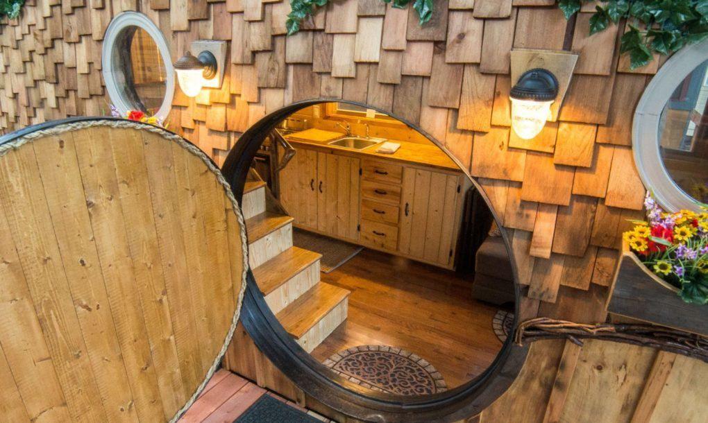 Circular door open to the interior