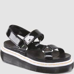"""<b>Dr. Marten's</b> Clarissa, <a href=""""http://www.drmartens.com/us/Womens/Womens-Sandals/CLARISSA/p/15066001"""">$120</a>"""