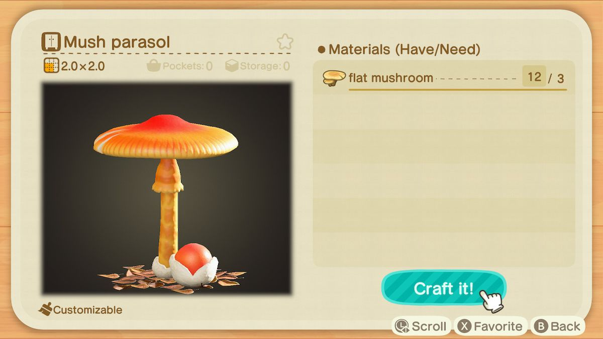 The recipe for a Mush Parasol