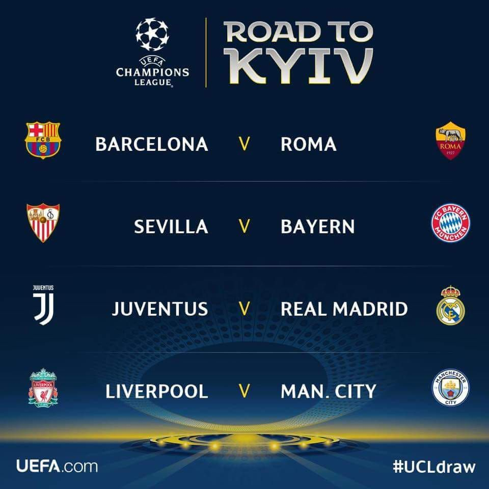 Uefa Champions League Quarterfinal Draw Early Fantasy Thoughts