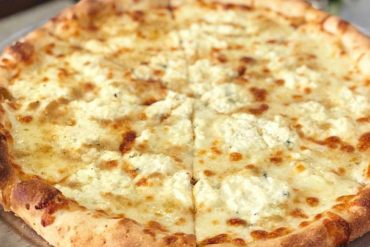 White pie pizza