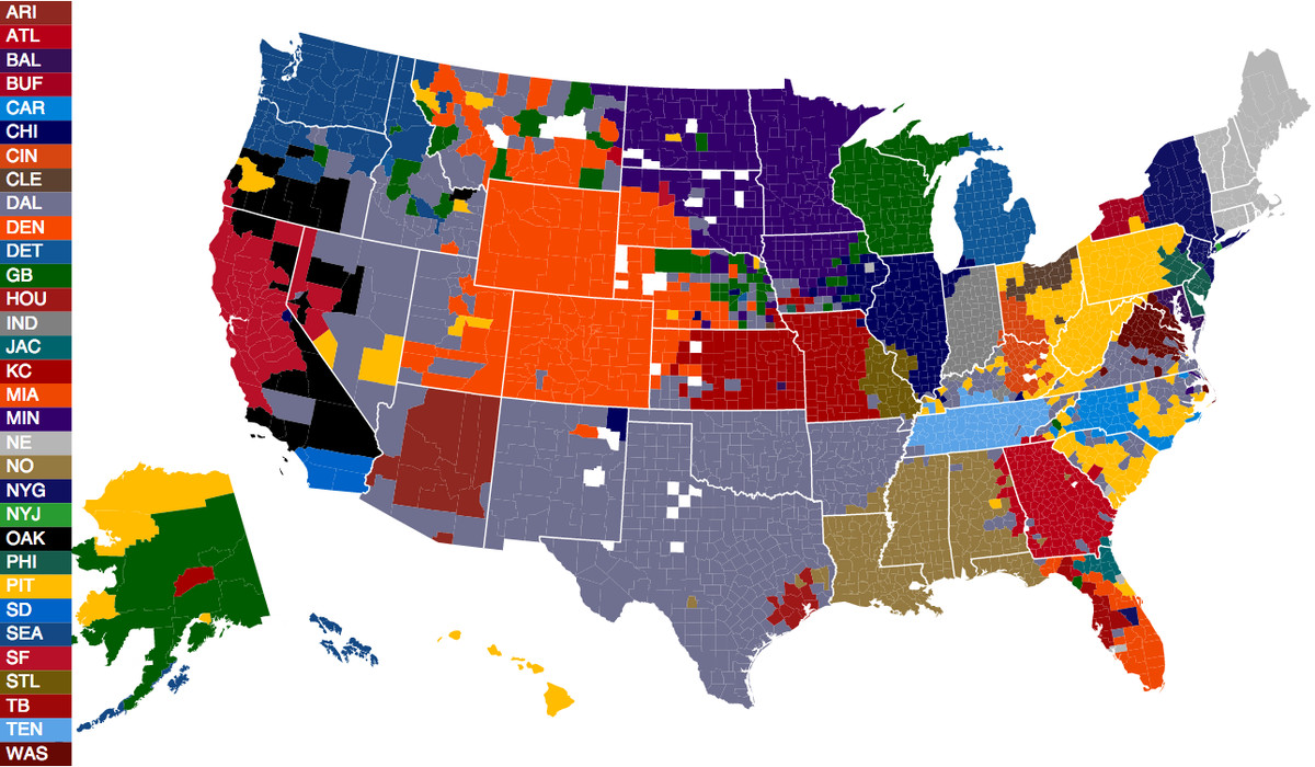football fan map