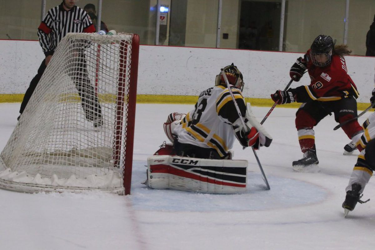 Sarah Davis led Sunday's game with a goal and an assist for the Inferno as Calgary beat Boston, 4-1.
