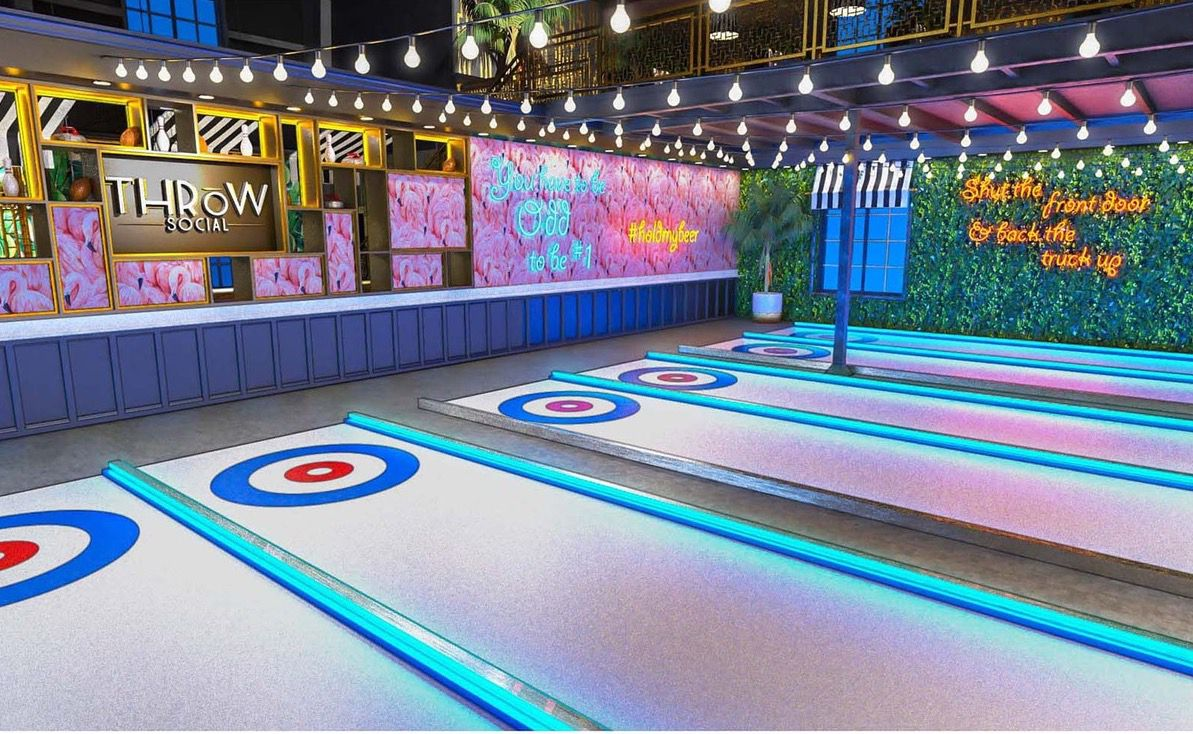 """Iceless"" curling ranges at THRōW Social DC"
