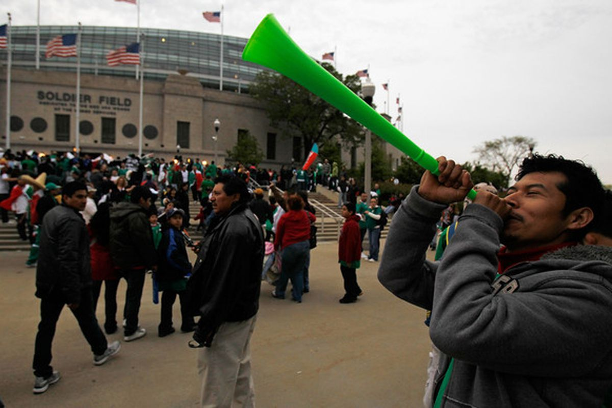 NIU should learn from Mexico fans and start bringing vuvuzelas to Soldier Field.