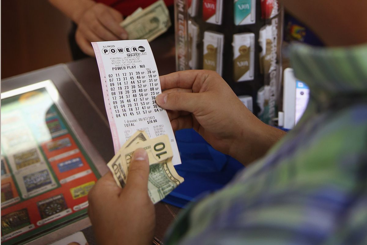 A customer buys a Powerball ticket in 2013.