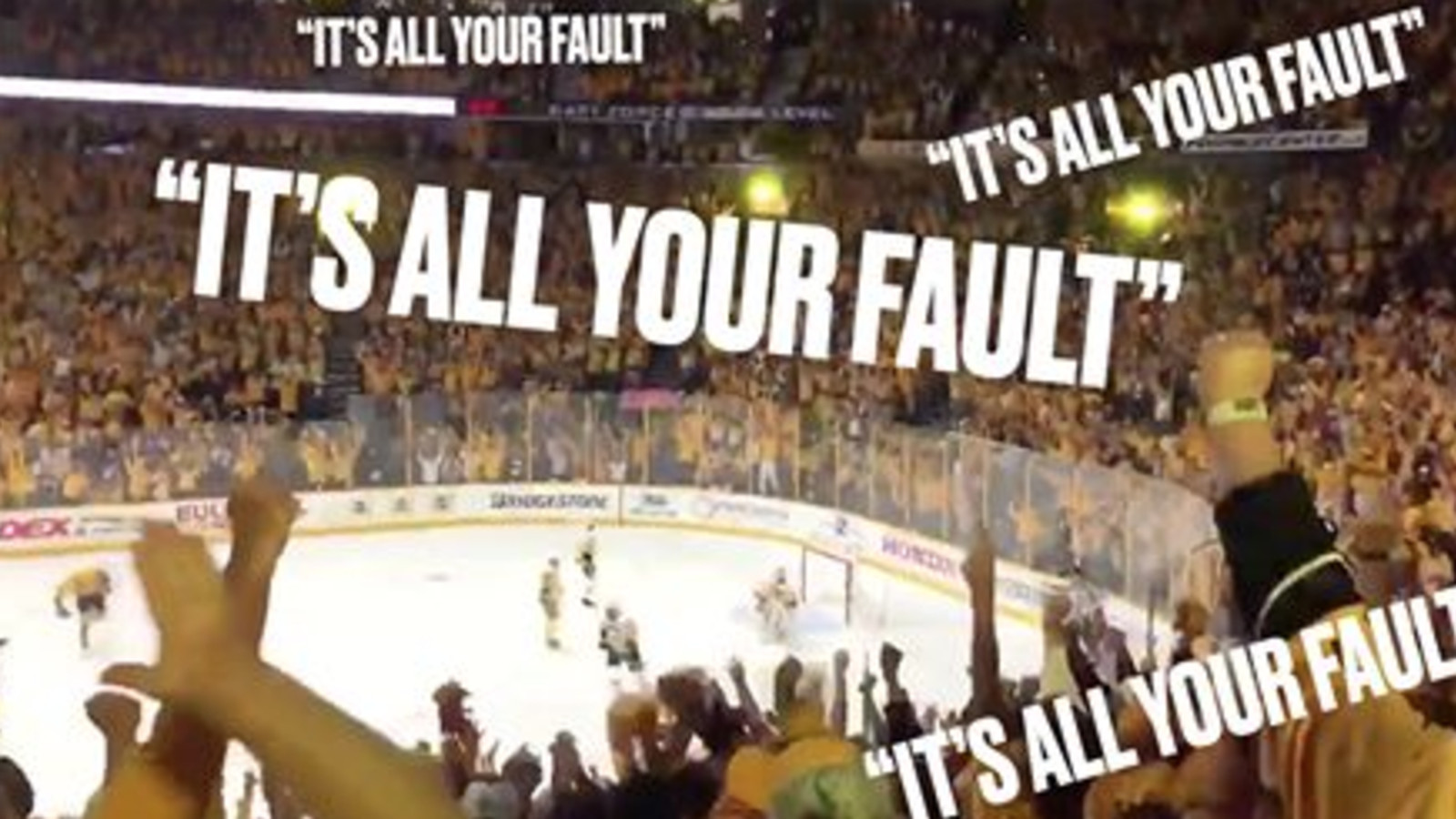 Listen To Predators Fans Chant It S All Your Fault At