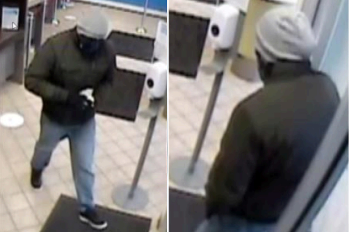 The FBI says this person is wanted for robbing a bank in Riverside March 17, 2021.