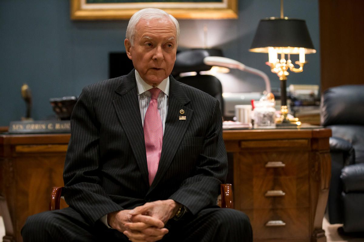 """FILE""""""""Sen. Orrin Hatch, R-Utah, gives an interview in his office in the Hart Senate Office Building in Washington, D.C. on Thursday, Jan. 19, 2017."""