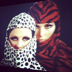 """A still from Claxton's """"Basic Black"""" (1967). It's considered the first fashion film and demonstrates Gernreich's """"Total Look"""" design concept that fuses together all pieces of clothing in an outfit."""