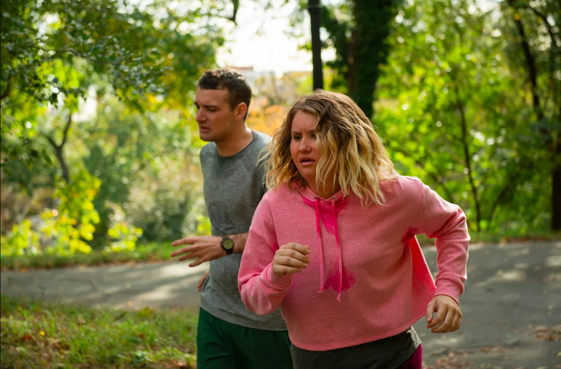 Two runners in Brittany Runs a Marathon.
