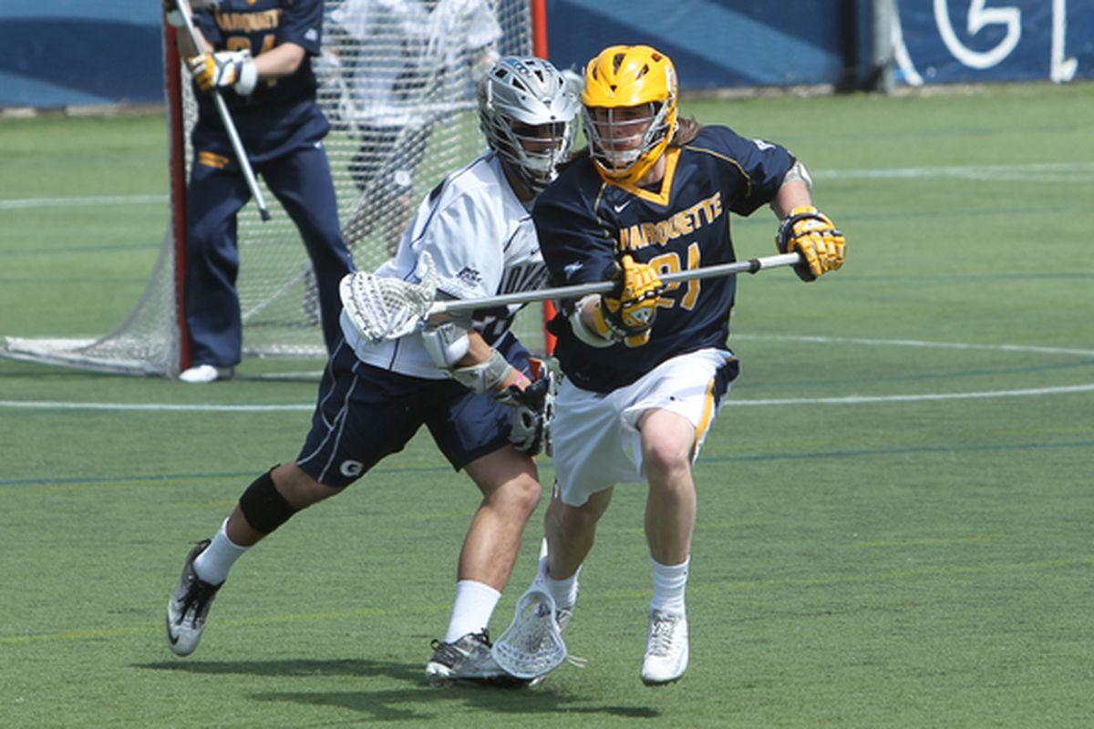 Liam Byrnes will need to add to his team high in ground balls vs Duke on Sunday.