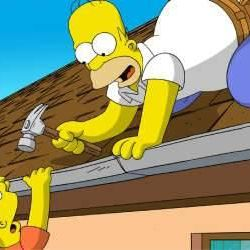 """A simple household task turns into mayhem for Homer Simpson and Bart Simpson in """"The Simpsons Movie."""""""