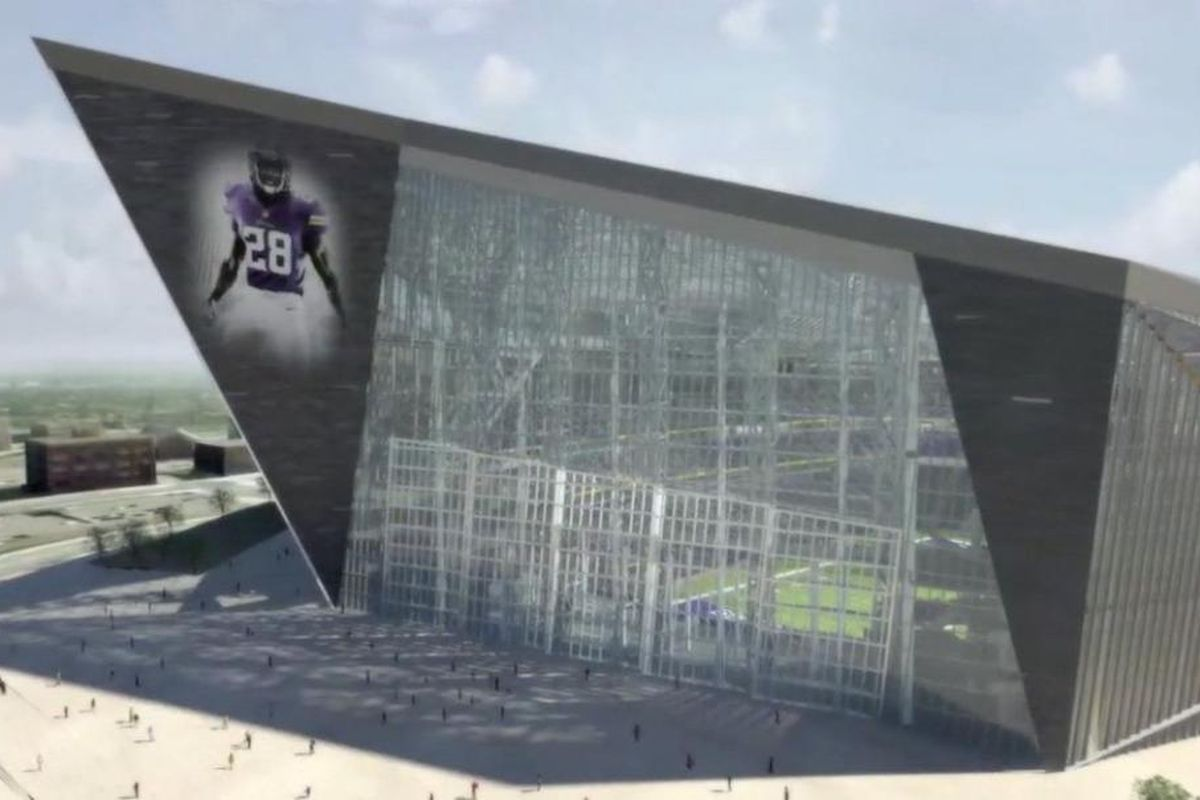 A look at the five enormous rotating glass doors.