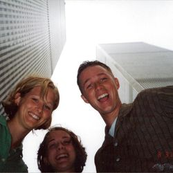 Richard Sheffield's three oldest children pose by the World Trade Center just 11 days before 9/11.