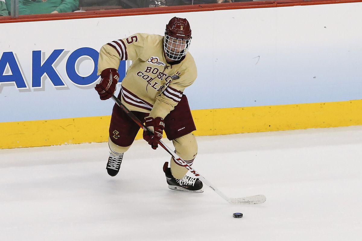 Boston College captain Michael Matheson