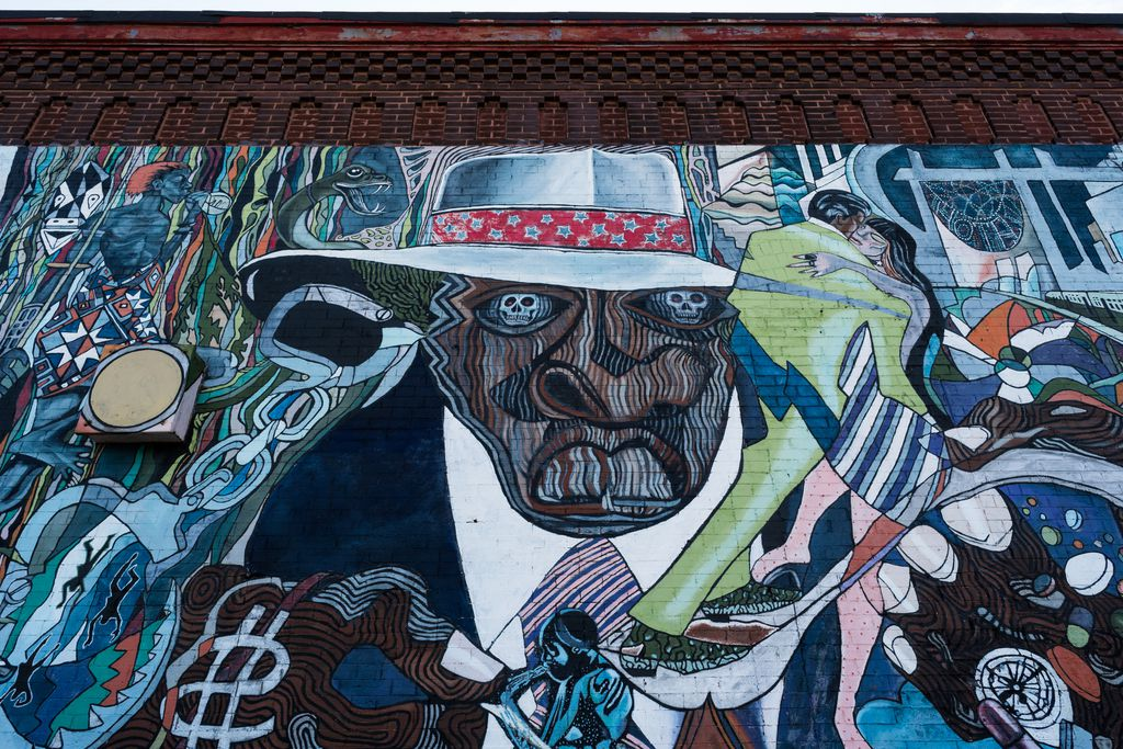 Detail of a mural in Bronzeville.   Max Herman/For the Sun-Times