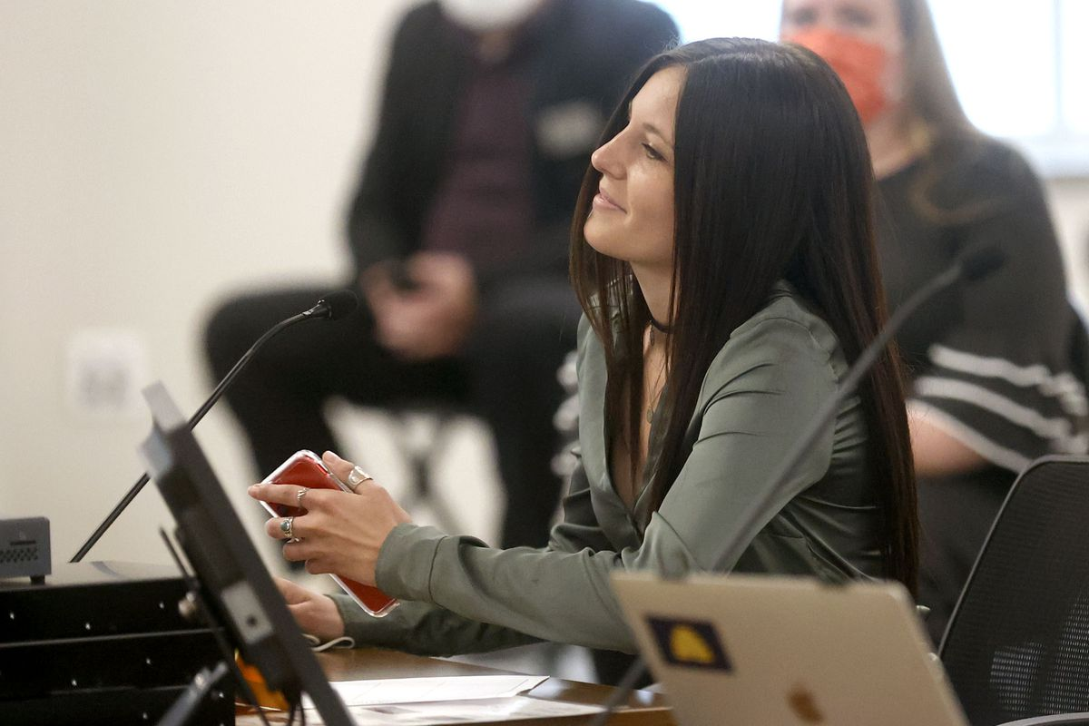 Alison Pray, a Southern Utah University track and cross-country athlete, speaks in support of HB302 during a House Education Committee meeting at the State Office Building in Salt Lake City on Thursday, Feb. 11, 2021.The bill would bar transgender athletes at public schools to participate in girls sports.