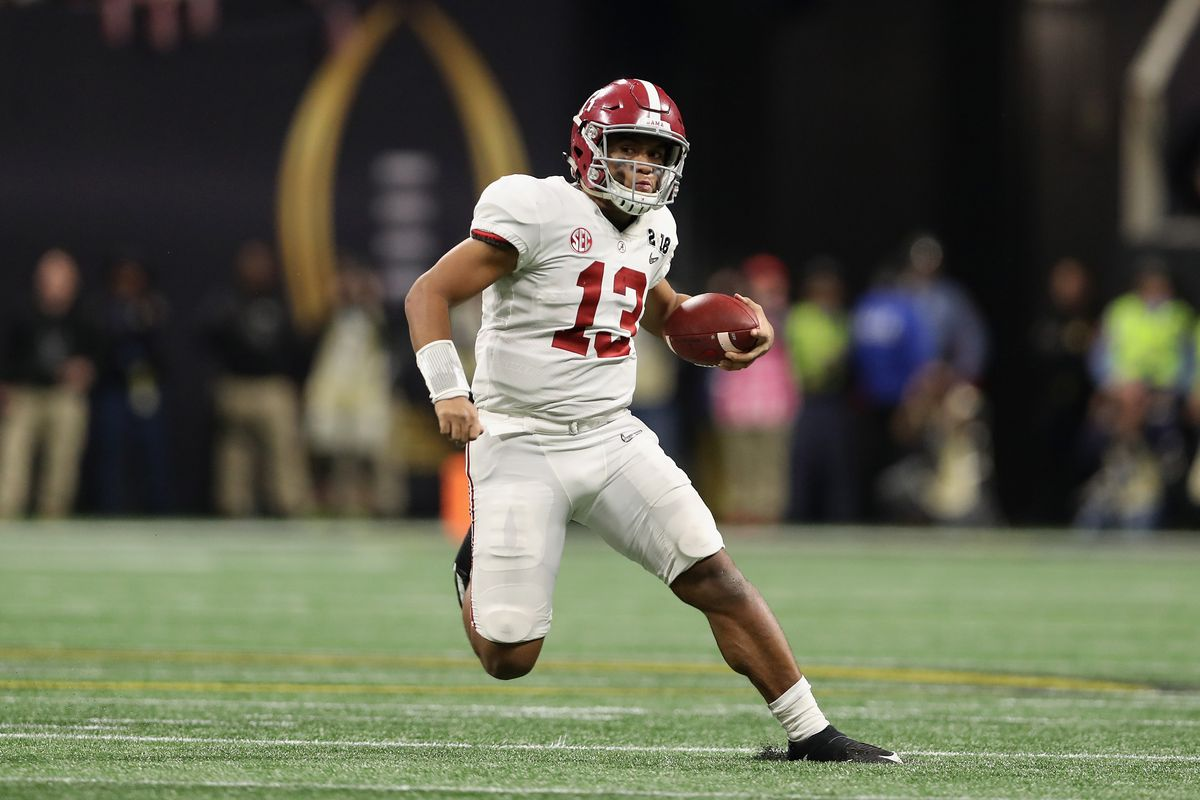 Alabama QB Tua Tagovailoa injures thumb at first spring practice