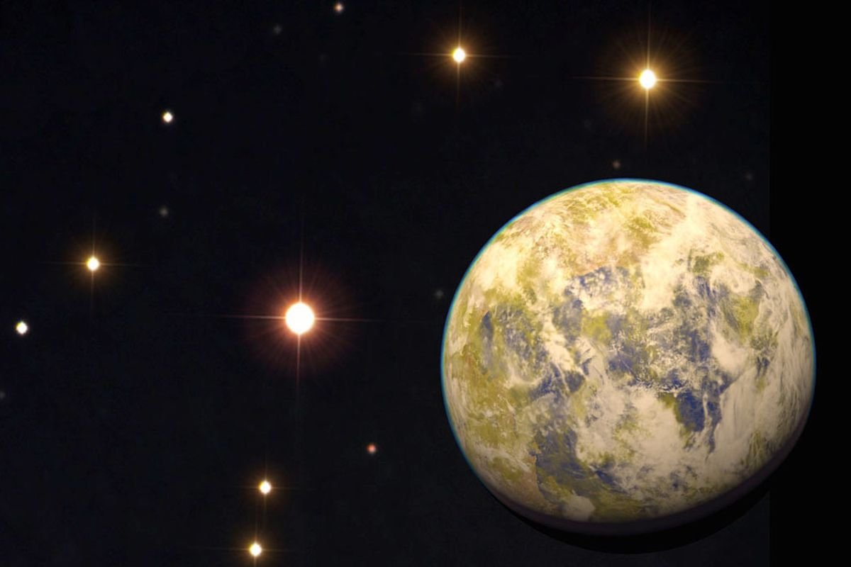 A rendering of Gliese 832c, discovered in 2014.