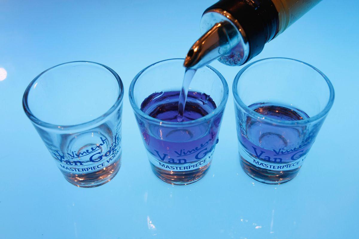 Alcohol shots.