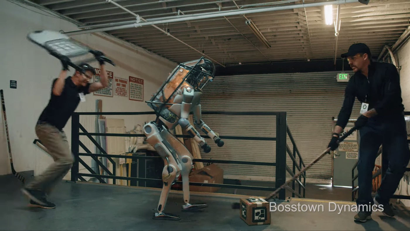 That video of a robot getting beaten is fake, but feeling sorry for