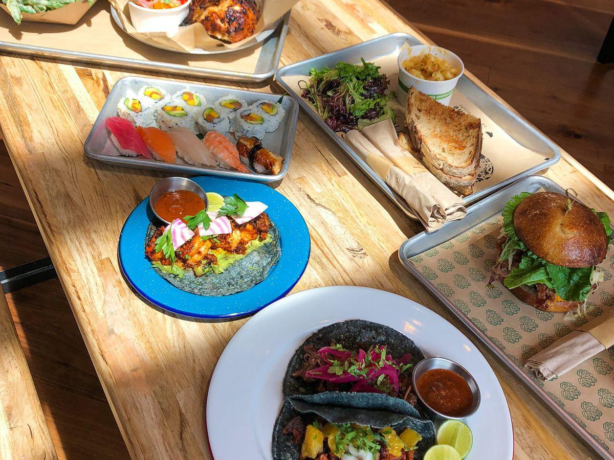 Various dishes at Fareground