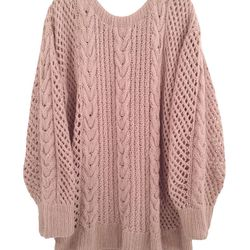 """Ryan Roche oversized cashmere fisherman sweater, <a href=""""http://shopbird.com/product.php?productid=30213&cat=651&manufacturerid=&page=1"""">$710</a> at Bird"""