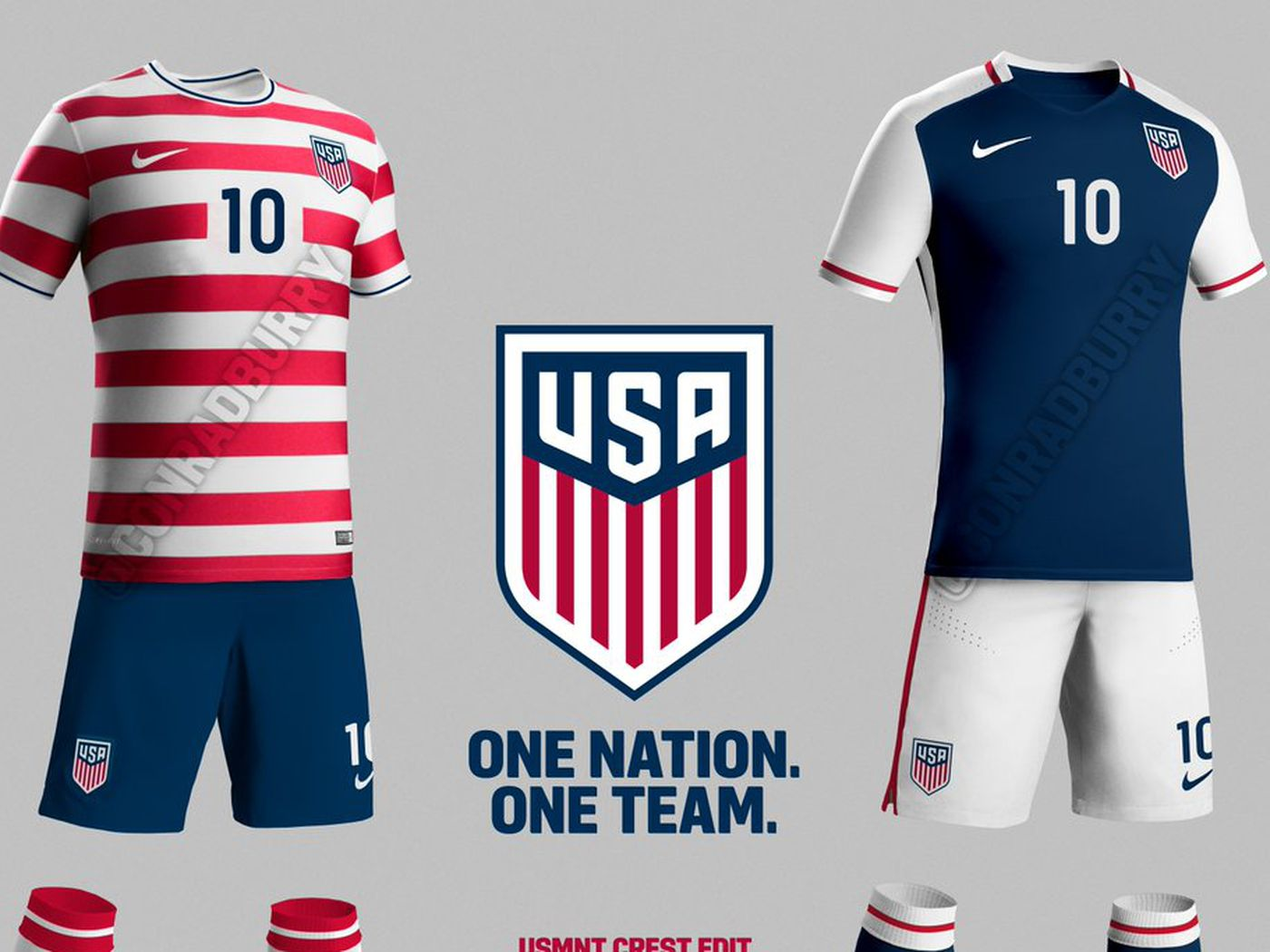 the best attitude 41759 0695f Someone re-designed the U.S. Soccer kits and crest for free ...