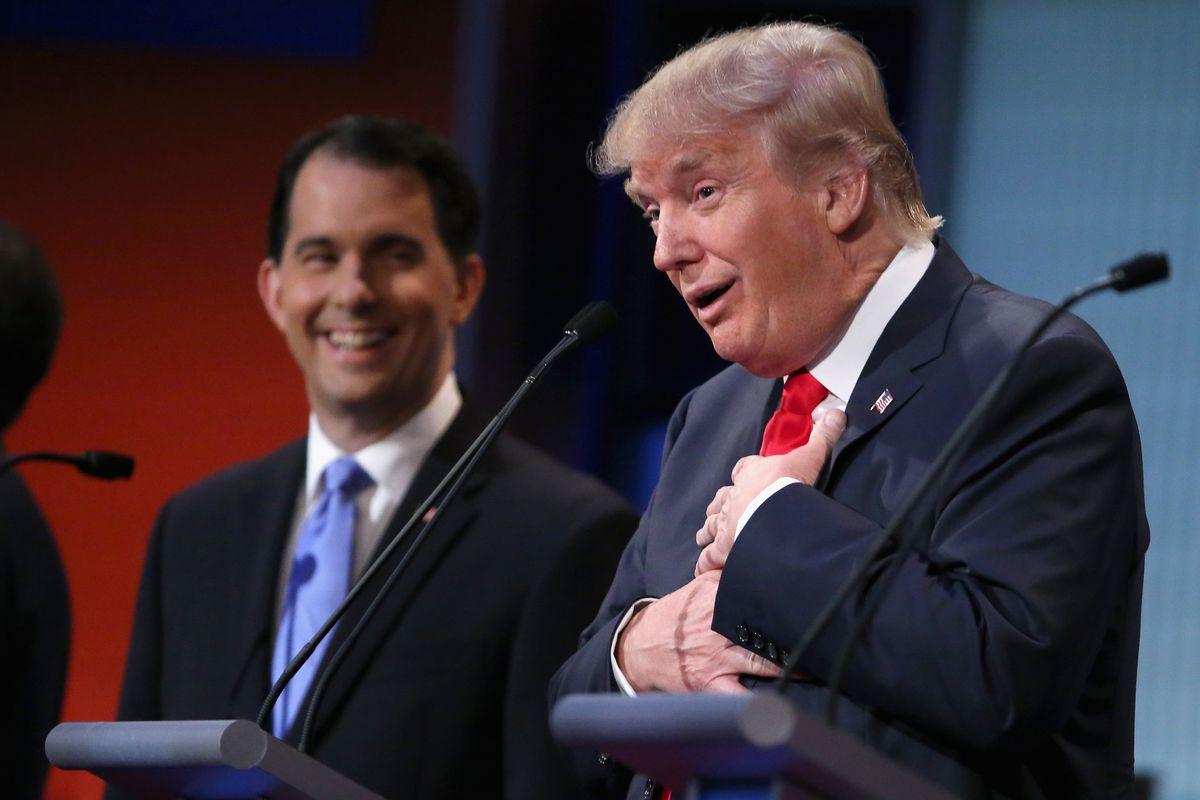Donald Trump at the GOP debate.