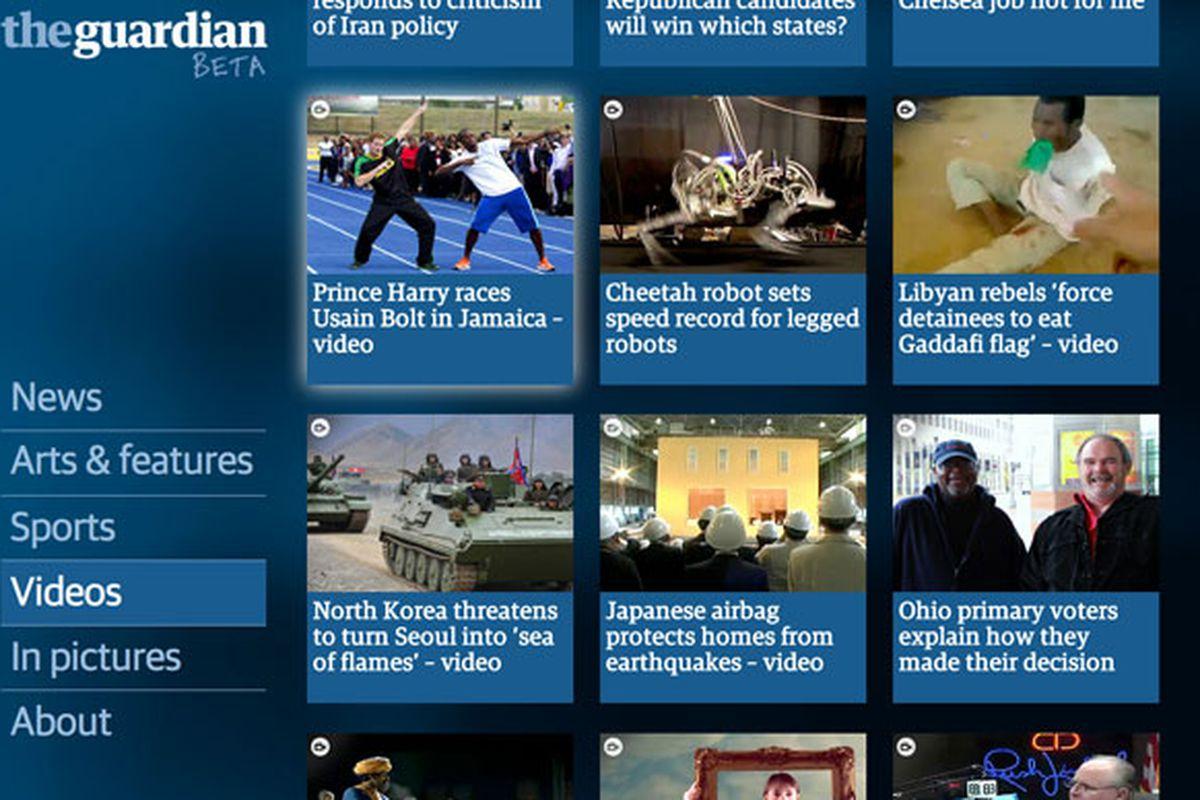 Guardian google tv beta