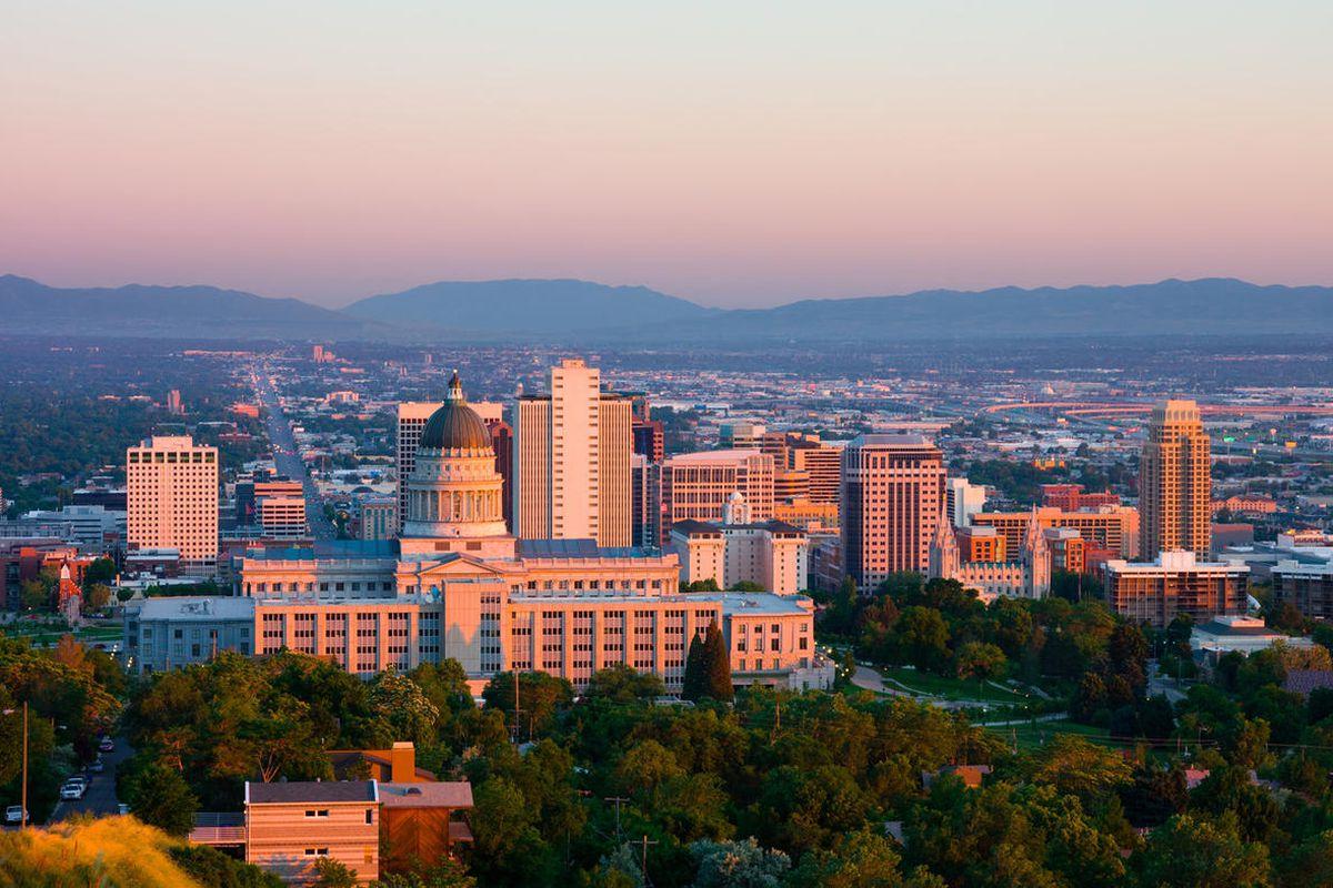 A view of Salt Lake City.