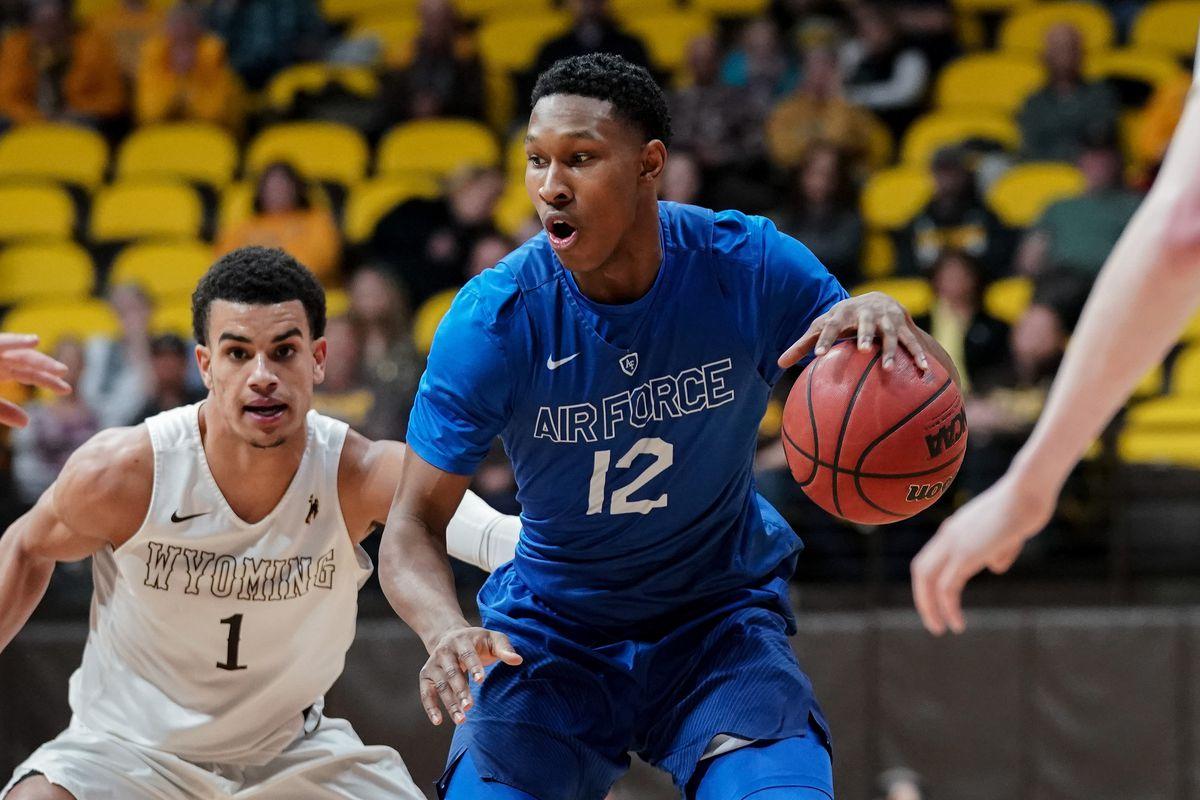 NCAA Basketball: Air Force at Wyoming