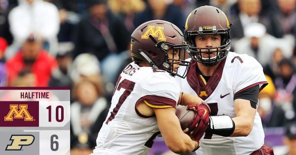 Minnesota Football vs Purdue - Halfime