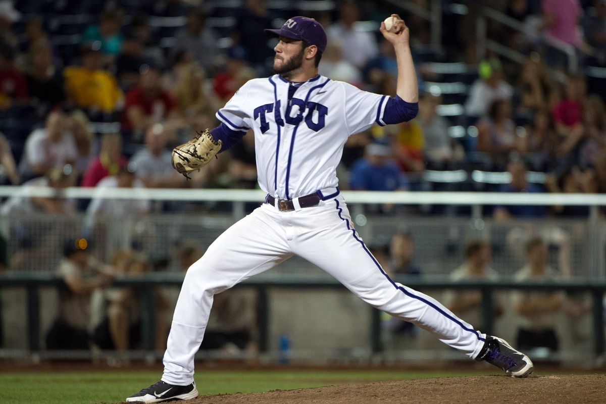 As the Frogs were battling for Omaha, two of their pitchers were selected in the MLB Draft.