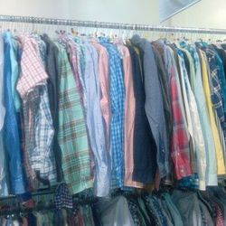 Mens button front shirts, $30