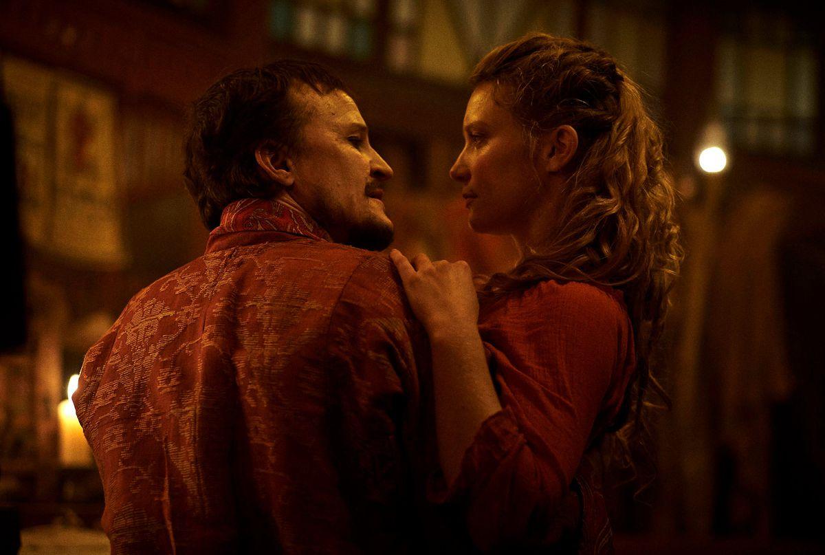 damon herriman and mia wasikowska in judy & punch
