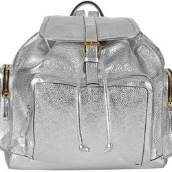 """This <b>Pierre Hardy</b> AV01 backpack will run you <a href=""""http://www.barneys.com/on/demandware.store/Sites-BNY-Site/default/Product-Show?pid=00505033472584&cgid=BARNEYS&index=3"""">$2,150</a>, but it's made of <i>metallic silver-grained deerskin</i> for g"""