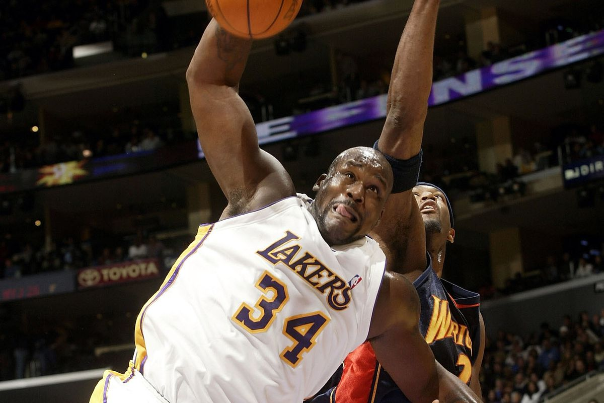 Shaquille O'Neal rebounds